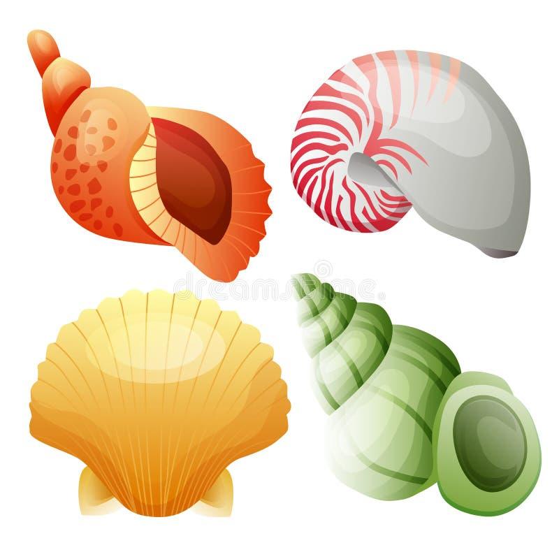 海壳传染媒介元素集 向量例证