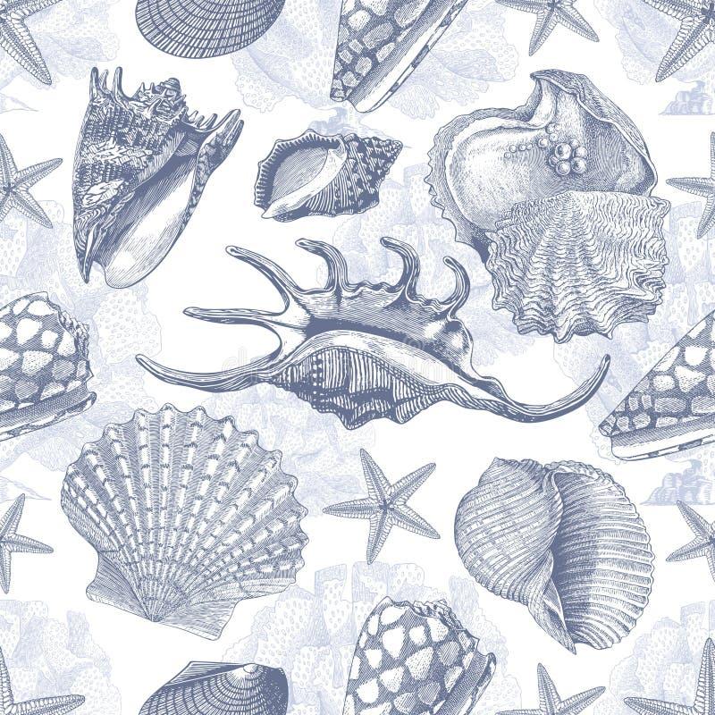 海壳传染媒介样式纹理 皇族释放例证