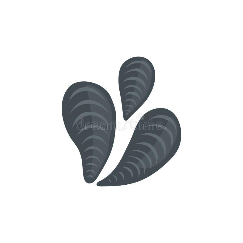 海壳在动画片样式的传染媒介象 向量例证