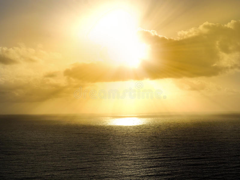 海大西洋的剪影 免版税库存图片