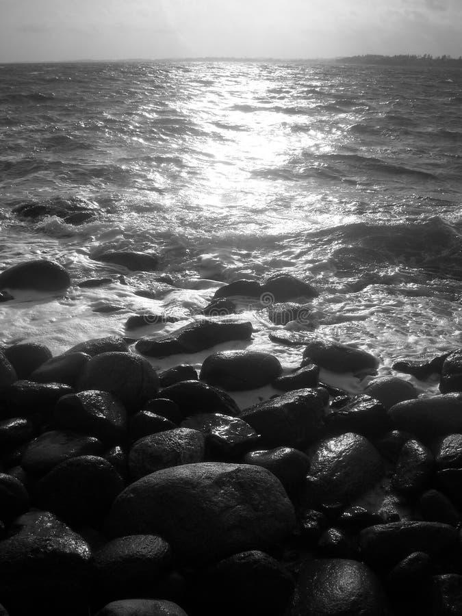 海对岩石 库存照片