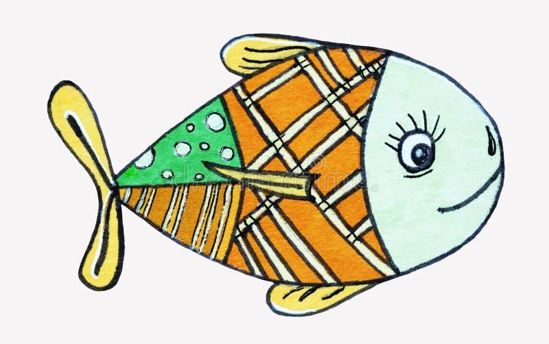 ?? 海居民,鱼 kawaii animais 皇族释放例证