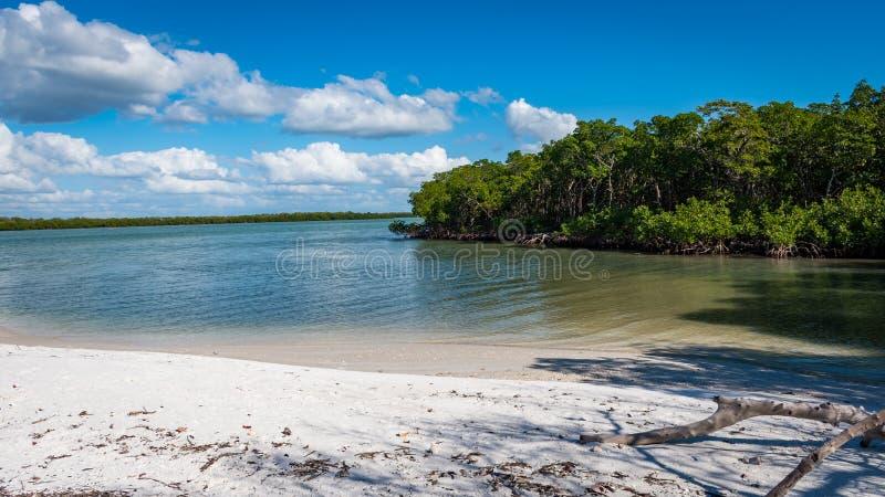 海岛佛罗里达西海岸的海滩天堂  免版税图库摄影