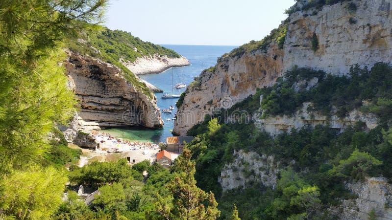 海岛力克罗地亚 免版税库存照片