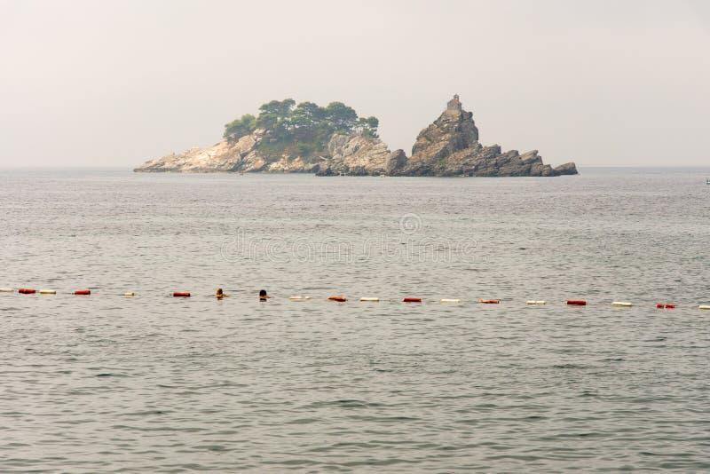 海岛圣周在黑山 图库摄影