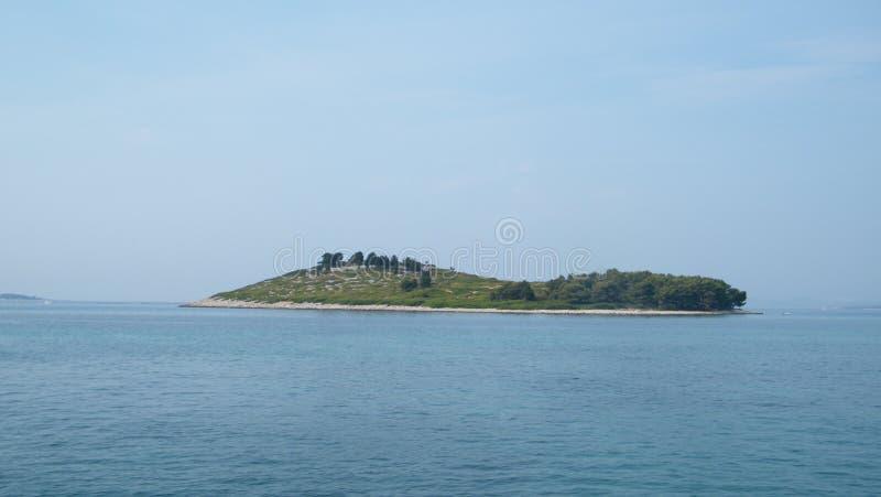 海岛在克罗地亚 库存图片