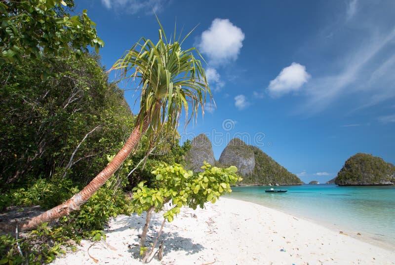 海岛在印度尼西亚 库存图片