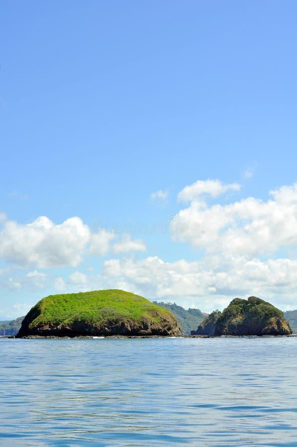 海岛在离哥斯达黎加的海岸的附近 库存图片