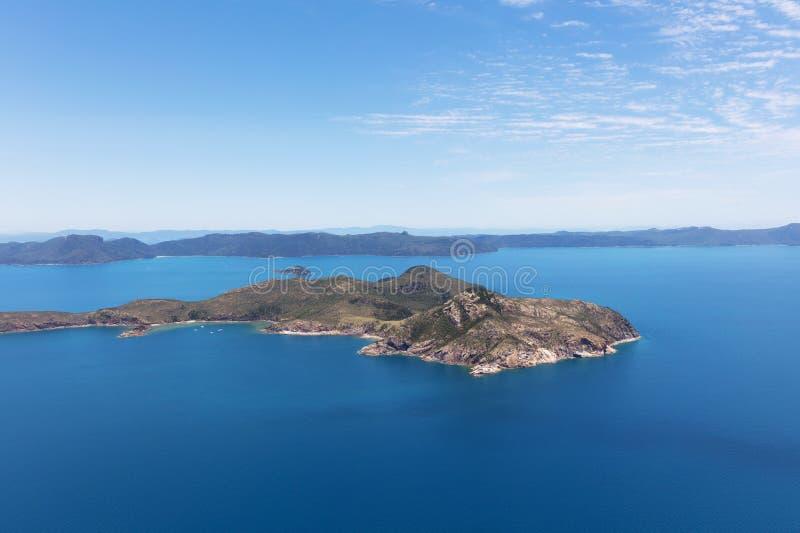 海岛在Whitsundays,澳大利亚 免版税库存照片