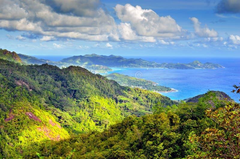 海岛塞舌尔群岛 图库摄影