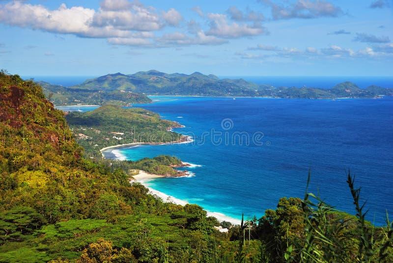 海岛塞舌尔群岛 库存照片