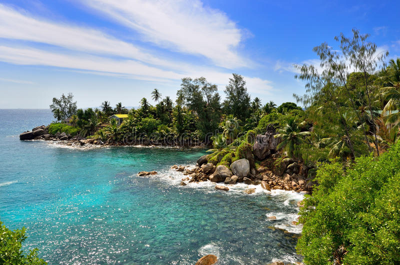 海岛塞舌尔群岛 免版税库存照片