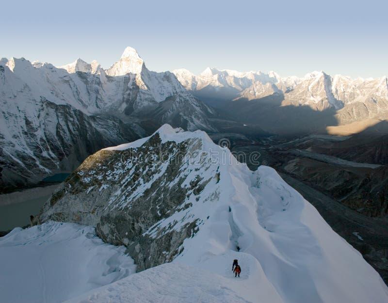 海岛尼泊尔峰顶 库存照片
