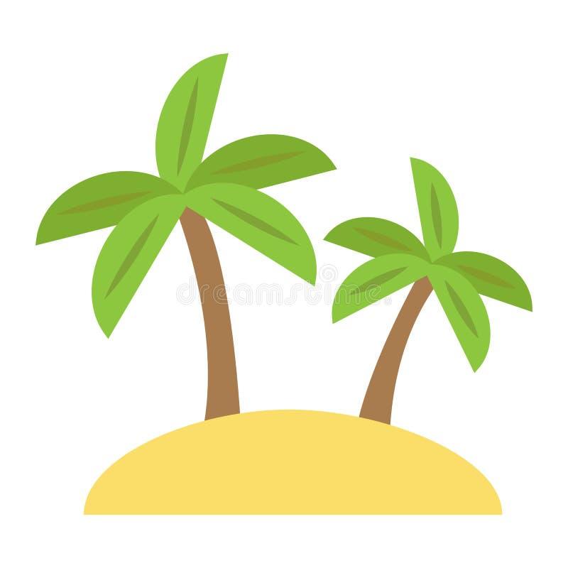 海岛平的象、旅行和旅游业,棕榈树 库存例证