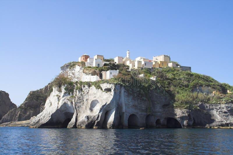 海岛意大利ponza 免版税库存图片