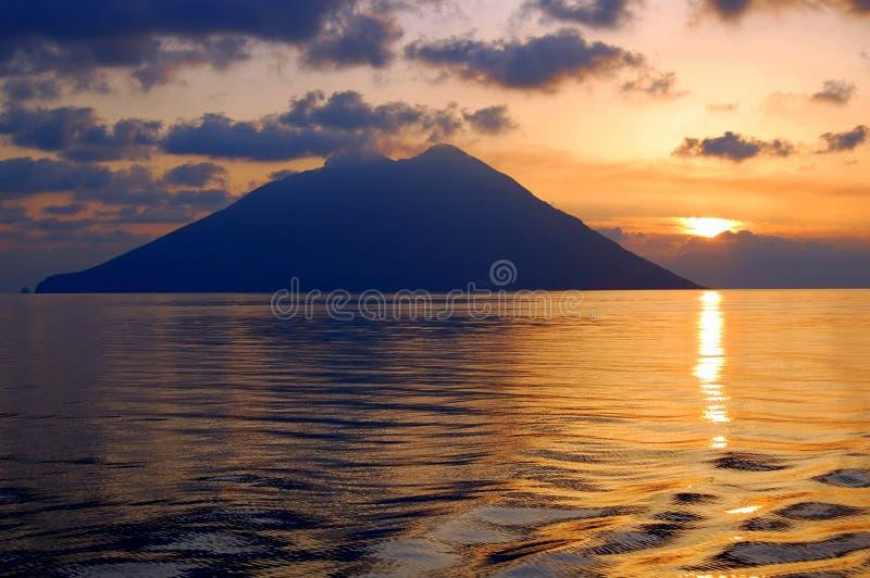 海岛意大利stromboli 库存图片