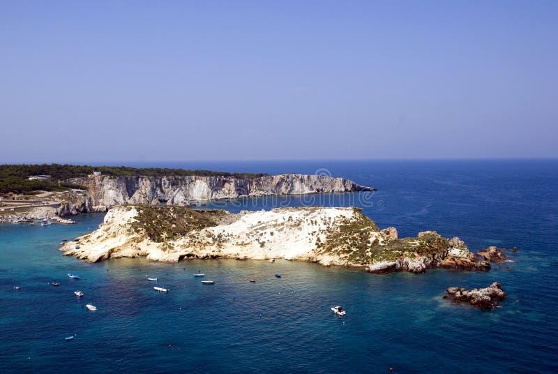 海岛意大利tremiti 免版税库存图片