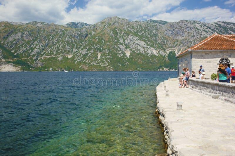 海岛教会,科托尔海湾,黑山 免版税库存图片