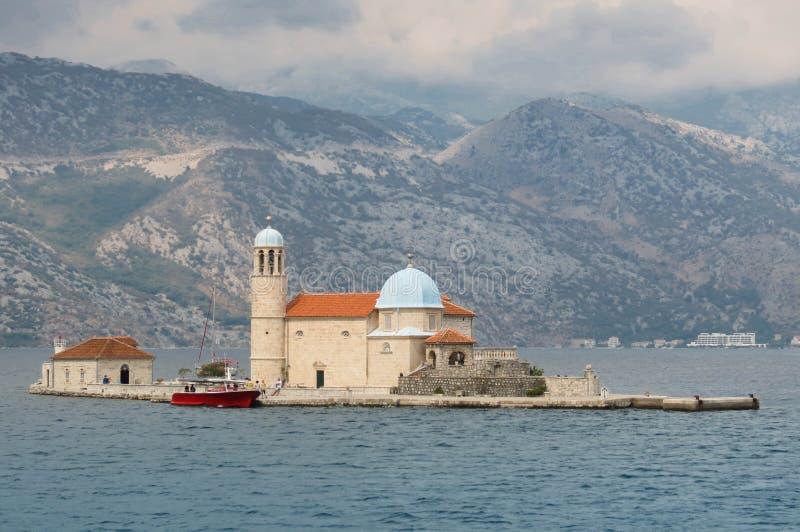 海岛教会 免版税库存图片