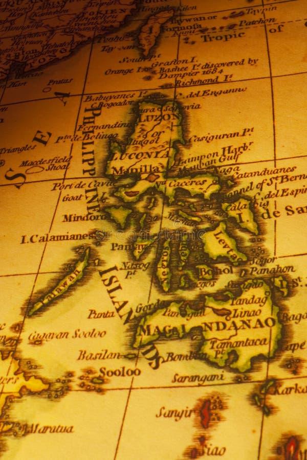 海岛映射老菲律宾 免版税库存照片