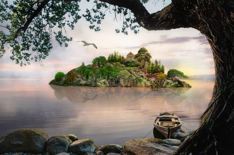 海岛梦想 向量例证