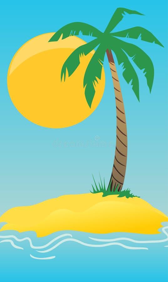 海岛棕榈树 向量例证