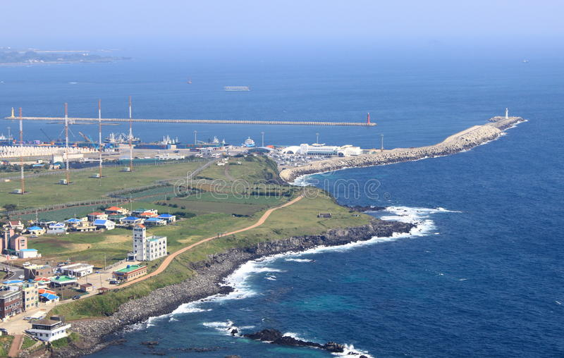 海岛济州端口 免版税库存图片
