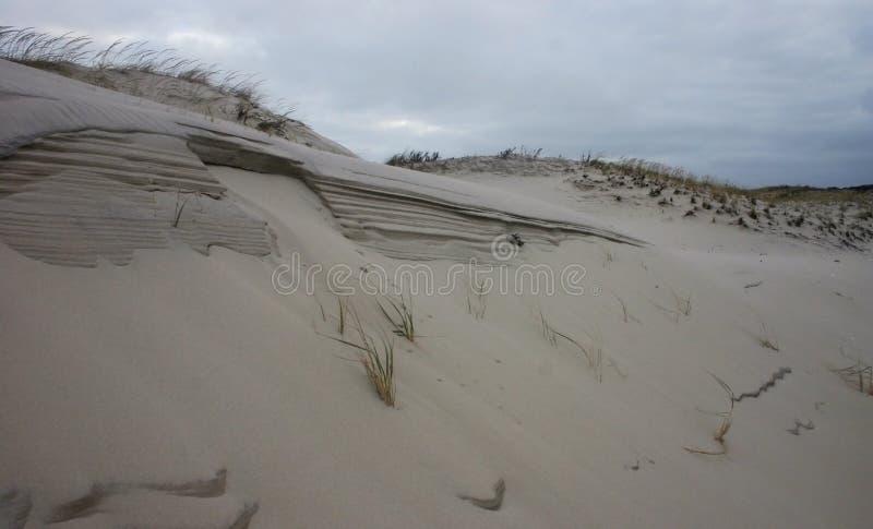 海岛海滩国家公园 英里沙丘和白色含沙bea 免版税库存照片