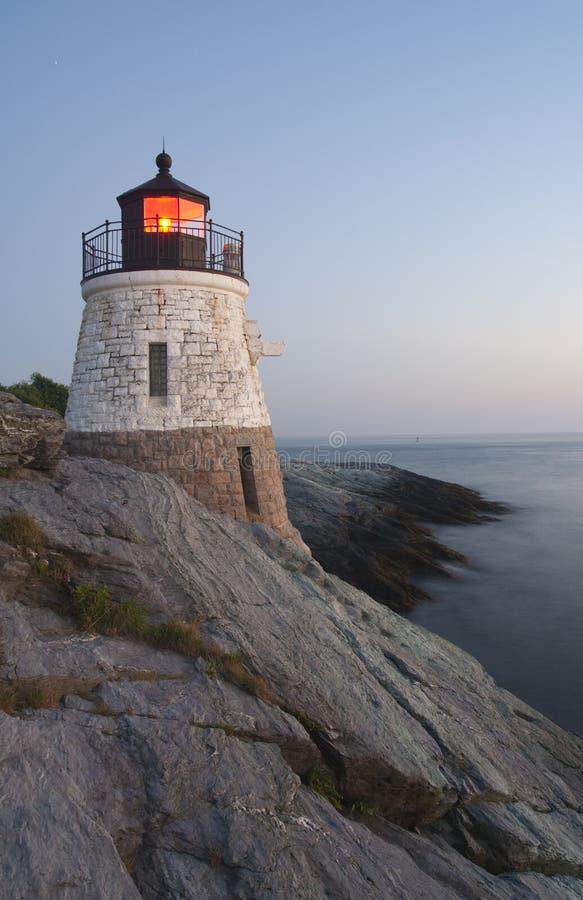 海岛灯塔rhode 库存图片