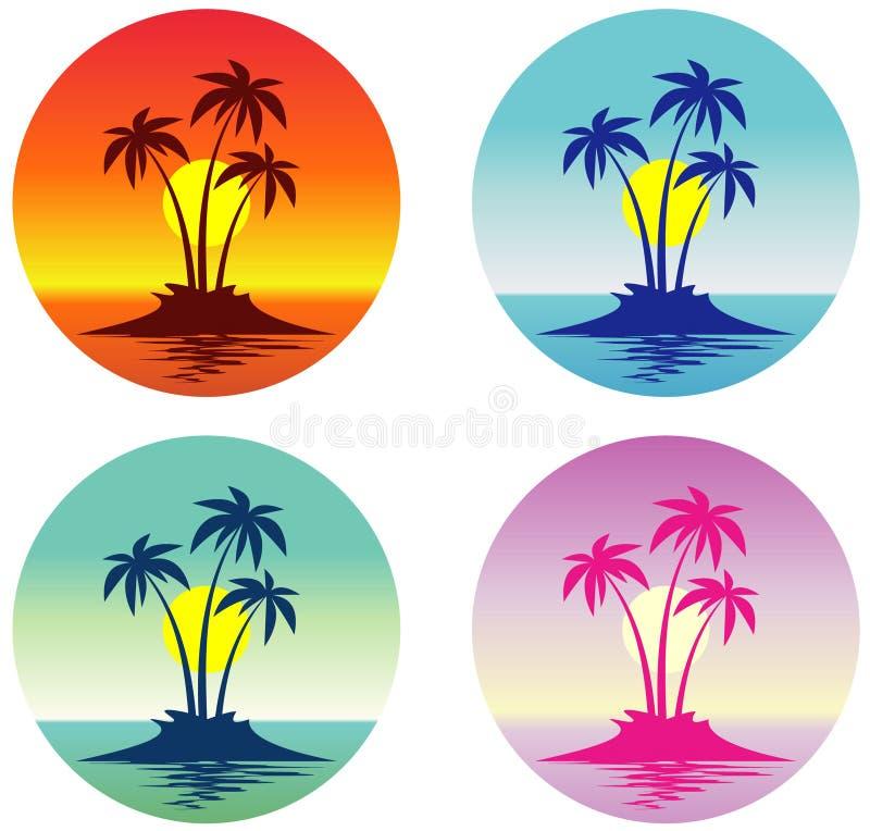 海岛热带向量 向量例证
