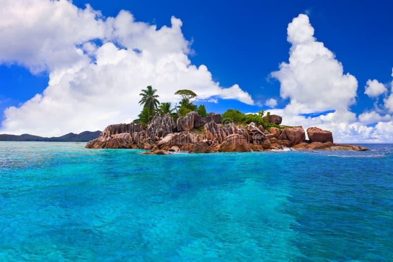海岛热带的塞舌尔群岛 库存图片