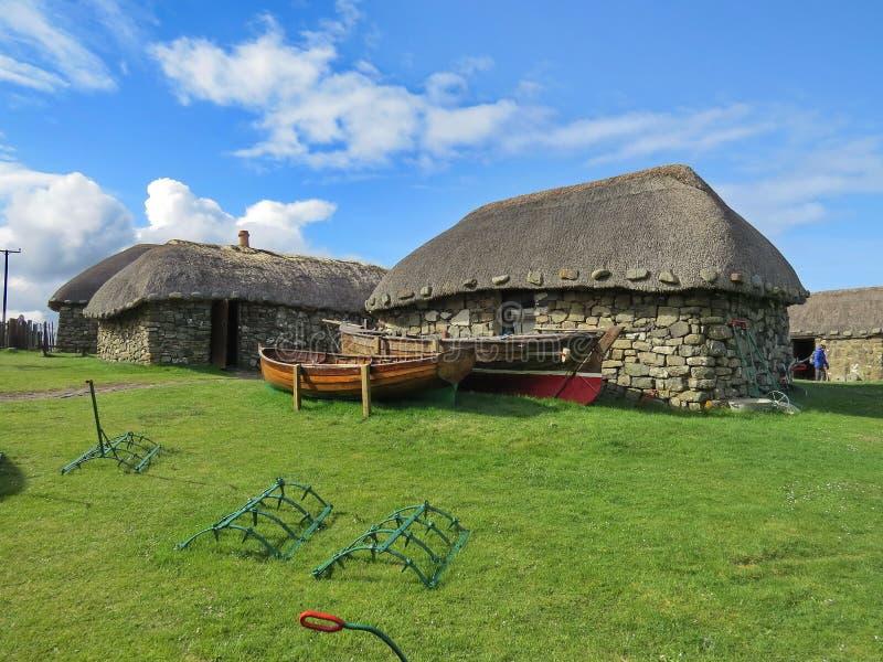 海岛生活博物馆,斯凯,苏格兰 库存照片