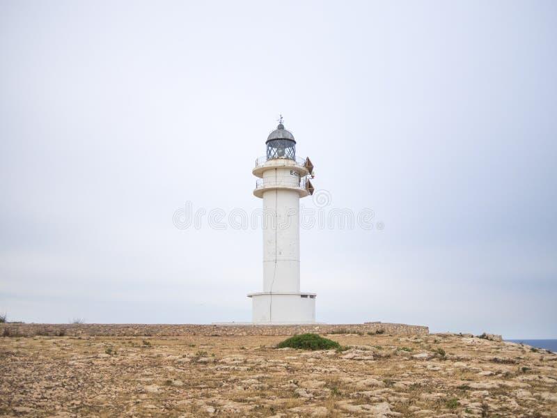 海岛的灯塔 图库摄影