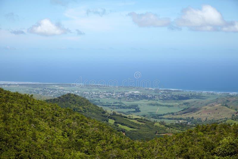 海岛的看法从山Le Morn的 免版税图库摄影