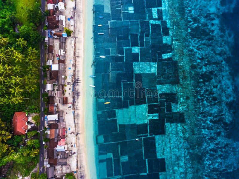 海岛的空中射击 免版税图库摄影