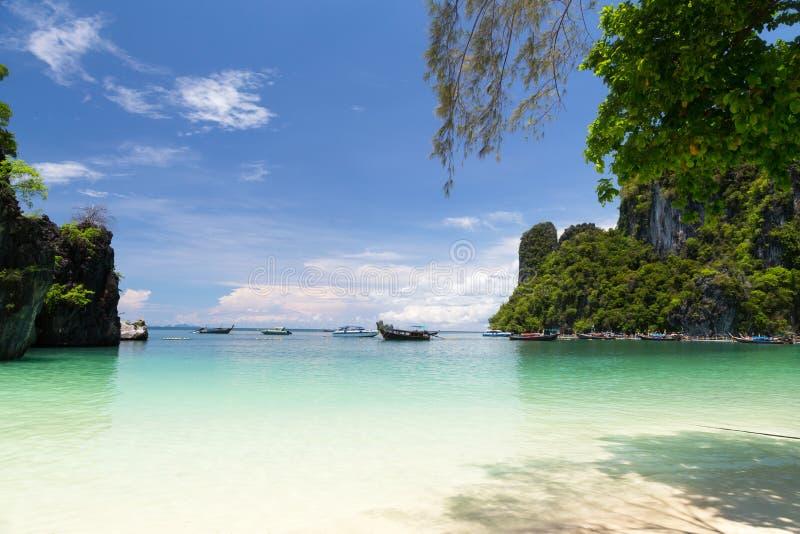 洪海岛的轮渡 免版税库存照片