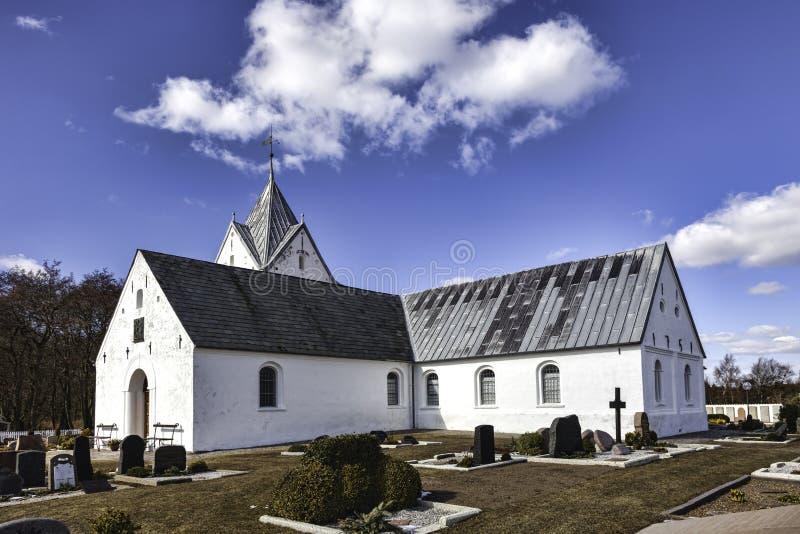 海岛的Romo Sankt Clemens教会 库存图片