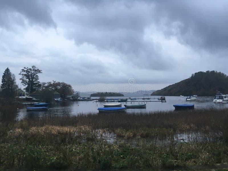 海岛看法在苏格兰 免版税图库摄影