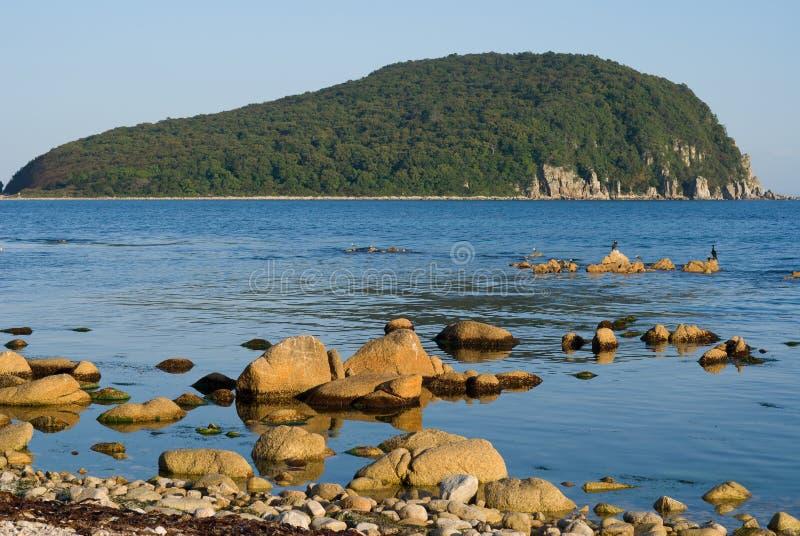 海岛石头 免版税库存照片