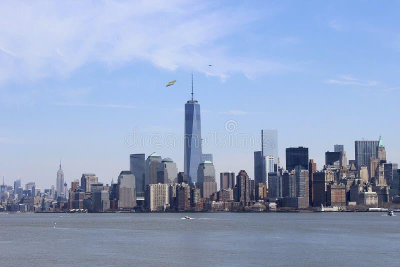海岛自由曼哈顿 免版税库存照片