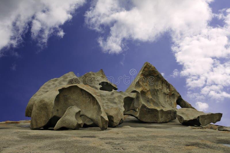 海岛袋鼠卓越的岩石数 免版税库存图片