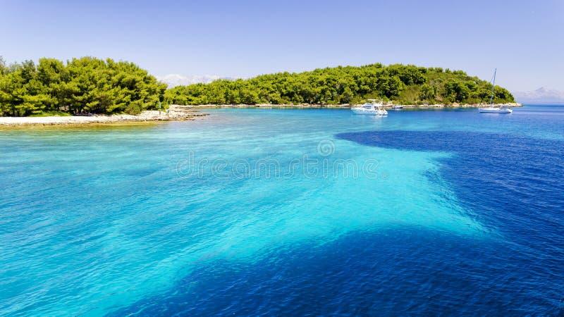 海岛赫瓦尔岛在达尔马提亚,克罗地亚 免版税库存照片