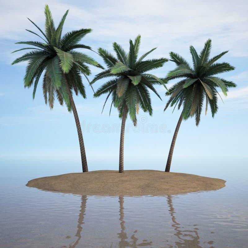 海岛 向量例证