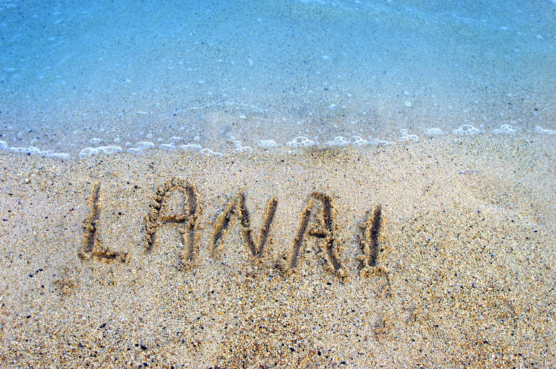 海岛lanai沙子 免版税库存照片