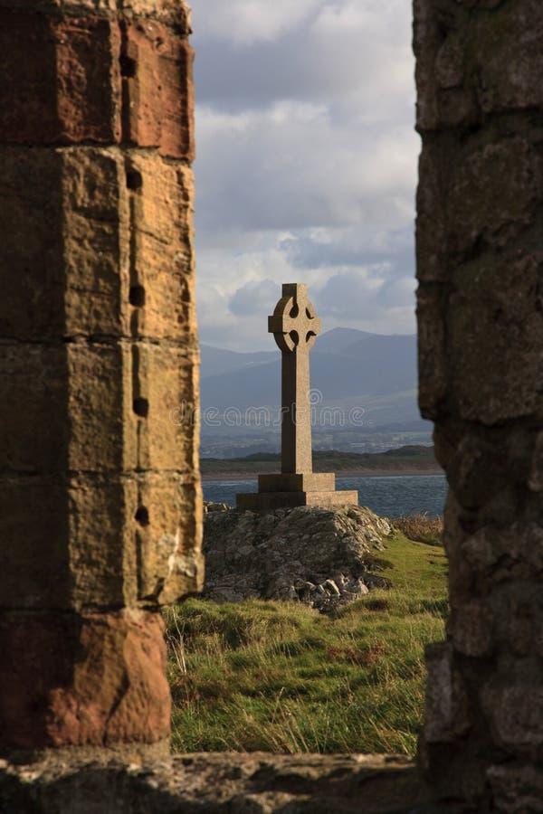 海岛llanddwyn 免版税图库摄影