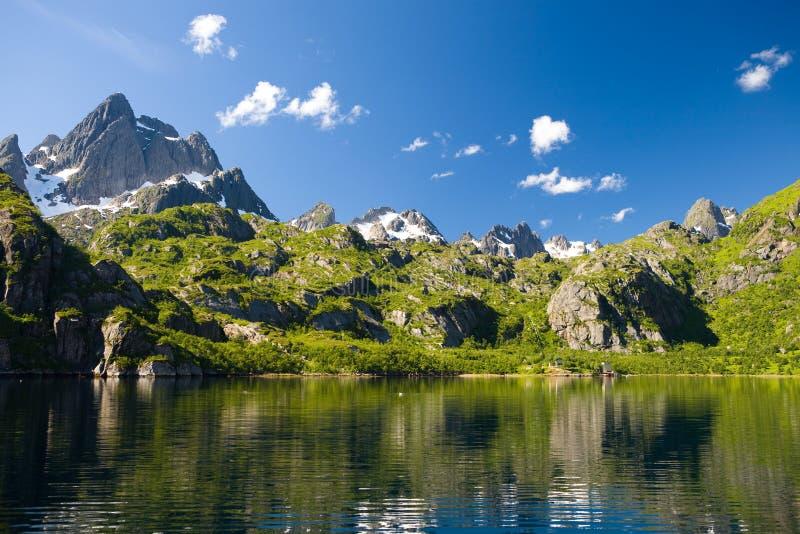 海岛lofoten挪威trolljorden 图库摄影