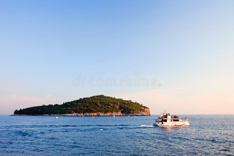 海岛lokrum 库存图片