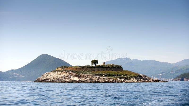 海岛Mamula 免版税库存照片