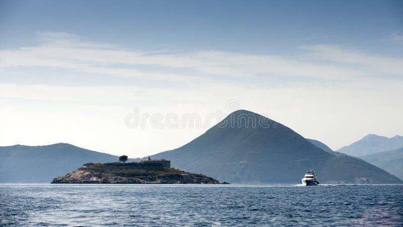 海岛Mamula 库存照片