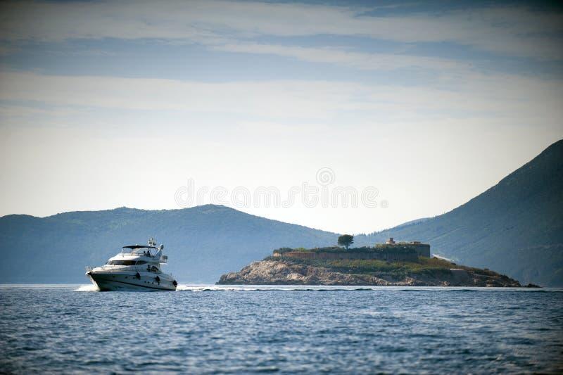 海岛Mamula 免版税图库摄影